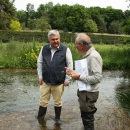 Sir Oliver Heald MP with Robin Cole volunteer warden