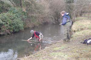 Measuring the depth of the silt